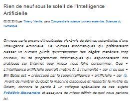 alexandre intelligence artificielle