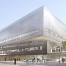 Nouveau et dernier bâtiment du projet Neurocampus. L'IMN investira les lieux au cours de l'été 2016. ©VIALET Architecture