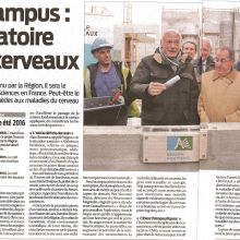 The Sud-Ouest Journal (December 3rd, 2014) quotes the Neurocampus as the laboratory of our brains